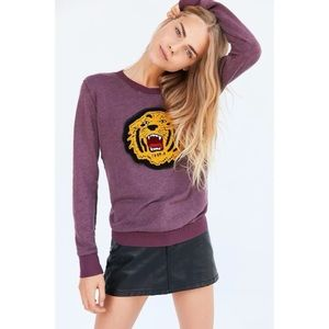 Truly Madly Deeply Tiger Embroidered Patch Long Sleeve